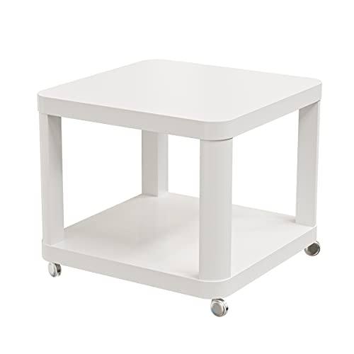 Ikea TINGBY Beistelltisch mit Rollen; in weiß; (50x50cm)