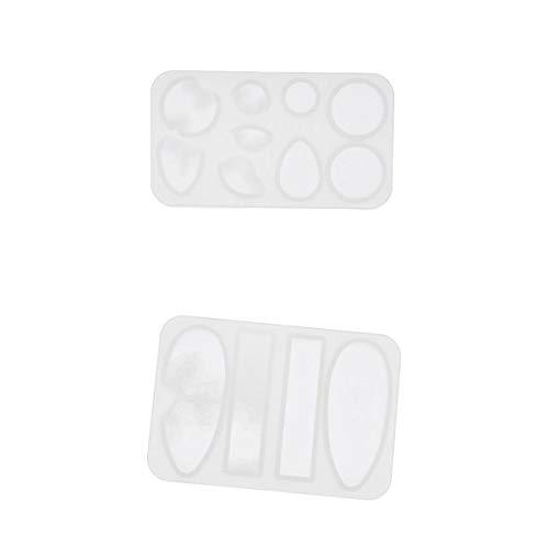 Colcolo 2 Pezzi Island Soap Charms Creazione di Gioielli in Silicone per Stampi in Resina