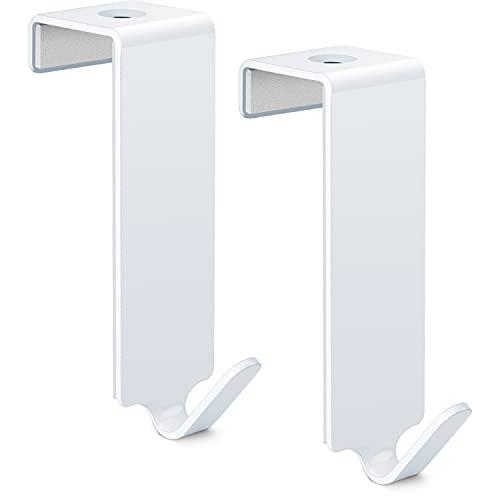 RELIBO® Türhaken Weiß, Kleiderhaken für Tür - für Bad, Tür-Garderobe und Handtuchhalter   2 Stück