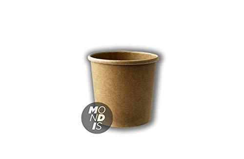 MONDIS TARRINA Kraft Natural 12 OZ(354 ML) 500 tarrinas de Helado granizado sopas caldos