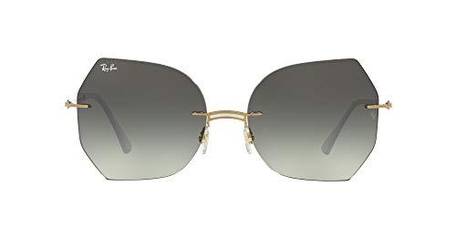Ray-Ban 0RB8065 Gafas, White ON Gold, 62 Unisex Adulto