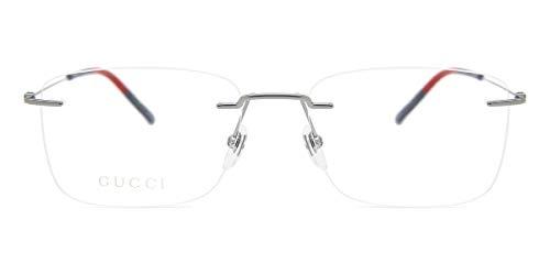Gucci Unisex – Erwachsene GG0399O-003-56 Brillengestell, Metallfarben, 56