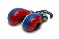 Mini Boxhandschuhe–Russland