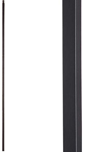 Satin Black 16.2.1-T Plain Straight Bar Hollow Iron Baluster for Staircase Remodel, Box of 5