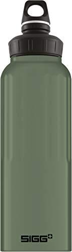 SIGG WMB Traveller Green Leaf Touch Borraccia alluminio (1,5 L), Borraccia colorata ermetica e priva di sostanze nocive, Borraccia acqua leggerissima in alluminio