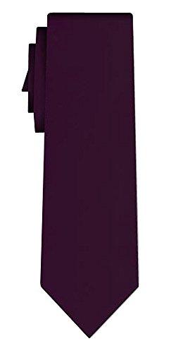Cravate unie solid aubergine VII