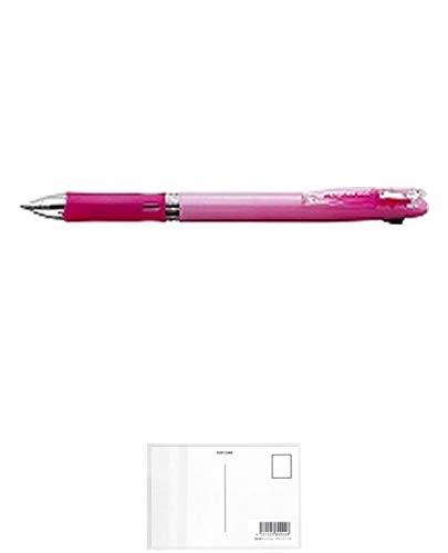 ゼブラ ボールペン クリップ-オンスリム2Cパステルピンク B2A5-WP 『 2本』 + 画材屋ドットコム ポストカードA