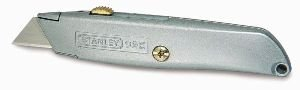 Stanley Messer 99 E (einziehbare Klinge, robustes Gehäuse, ergonomisches Design, InterLock, drei Ersatzklingen) 1-10-099