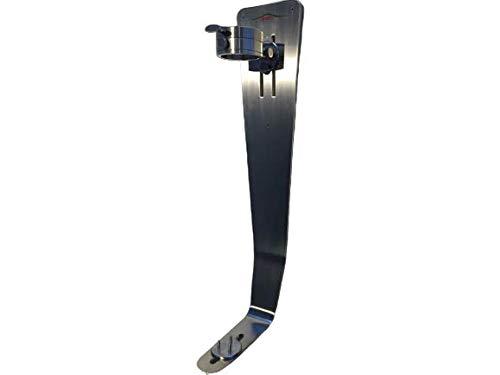 Jamonero Profesional Steel´0 Modelo Vertical de Pared, Soporte para jamón con Cabezal Giratorio 360º
