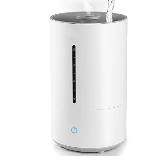 Humidificador - 4 L Humidificador de aire con 3 modos de niebla, apagado automático, humidificador silencioso para dormitorio, oficina, casa