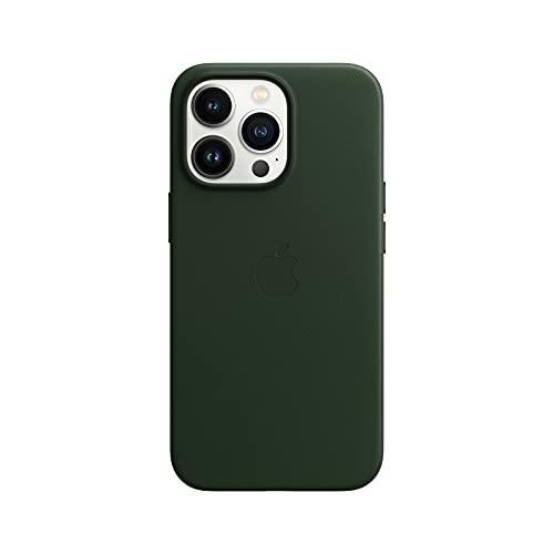 Apple Leder Hülle mit MagSafe (für iPhone 13 Pro) - Schwarzgrün