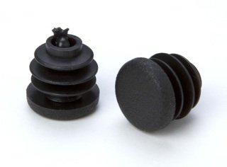 4 Stück Rohrstopfen Lamellenstopfen Endkappen für Rundrohre, Kunststoff, schwarz, Durchmesser 15mm