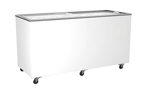 Tiefkühltruhe mit Glasschiebedeckel 478 Liter Kühltruhe Gefriertruhe Gefrierschrank Kühler Truhe 1489x653x904 mm