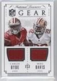 Mike Davis; Carlos Hyde #87/99 (Football Card) 2015 Panini National Treasures - NFL Gear Combos #GC-HD