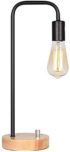 Mu Mianhua Lámpara de escritorio industrial, lámpara de mesita de noche lámpara de mesa de mármol de mármol Lámpara de noche minimalista para sala de estar dormitorio dormitorio oficina, negro (bombil