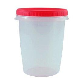 Bosque Verde - 2X Taper contenedor de comida 1 L redondo con rosca apto microondas, liquidos, BPA Free - 2 Unidades