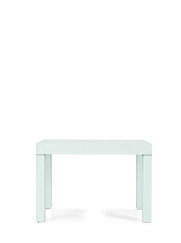 Tavolo Nobilitato Moderno Allungabile Consolle, Legno, Bianco Frassinato, 90 x 50, 90 x 300