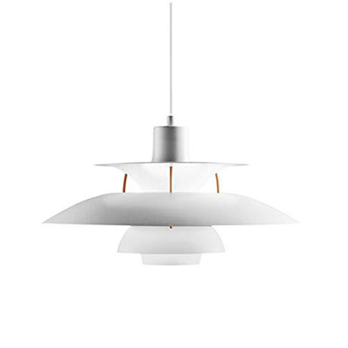SXFuture Nordic Pendelleuchte - PH5 Umbrella LED Hängelampe Esszimmer Innenbeleuchtung - E27 Aluminium Hängelampe,50CM