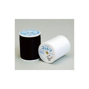 フジックス コットンミシン糸 60番 500m 白・黒 3個1セット 色番:白