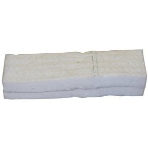 Juego de 2 esponjas en lana cerámica para chimeneas de etanol (30 x 10 x 1,3 cm)