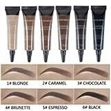 6 couleurs professionnel gel pour les sourcils imperméable teinture pour les sourcils gel pour les sourcils teint brosse à sourcils (Color : 1# BLONDE)