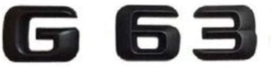 Gloss Black G 63 Letters Trunk Emblem Badge Sticker for Mercedes Benz G63