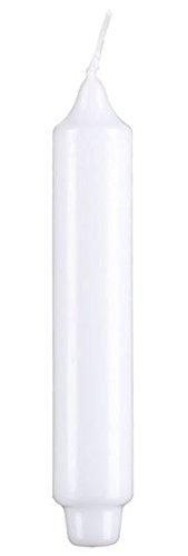 Stabkerzen 6 Zapfenfuß Weiß 30 x 3 cm, Kopschitz Kerzen, dt. Marken Qualitätskerzen in RAL Kerzen Güte Qualität, Passend zum Kerzenleuchter