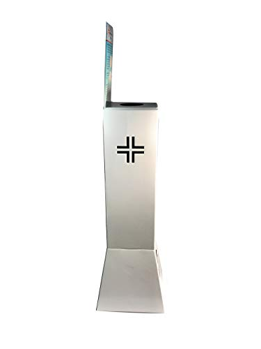 vetrineinrete® Colonnina porta dispenser per gel igienizzante mani totem piantana porta disinfettante 90X20 CM