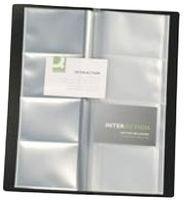 Preisvergleich Produktbild Visitenkartenbuch schwarz für 160 Karten Mappenformat ca. (BxH): 11,0 x 26,0 cm,  für Visitenkarten 9,0 x 5