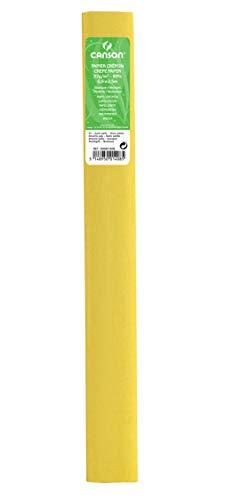 Rollo 50x250 cm, Canson Crespón Estándar 32g, Amarillo Paja (53)
