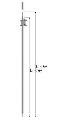 Tiefenerder Erder Erdung Ø20mm V2A 3m SET Zusammensetzung ELEKTROMARKT *TOPWARE