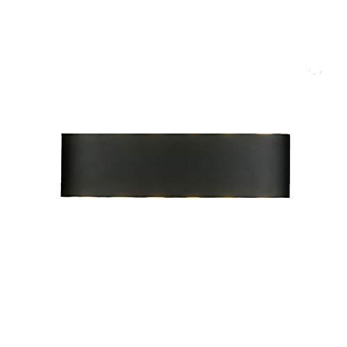 HLD Wandlamp slaapkamer woonkamer LED-buitenverlichting gangpad waterdichte vierkante dimming hotel overdekt nachtkastje corridor Muurlampen (Color : Black, Size : S)