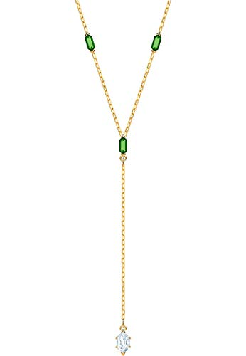 Swarovski Collana Lariat Y 5455520, Donna Acciaio Inossidabile, Verde