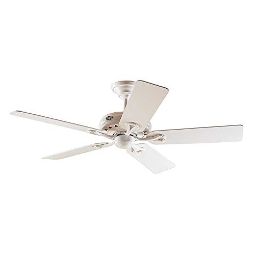 Hunter Savoy 24526 - Ventilador de techo, 5 palas, color blanco