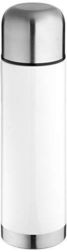 alfi 5457.901.075 Isolierflasche perfectTherm, Edelstahl Weiß 0,75 l, 12 Stunden heiß, 24 Stunden kalt, Drehverschluss, BPA-Free