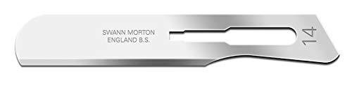 Lames chirurgicales non stériles Swann-Morton n ° 14 (100 pièces)