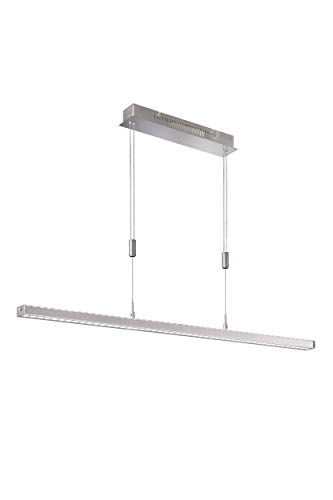 Fischer & Honsel Pendelleuchte 2x LED 15W nickel matt, dimmbar,tunable white