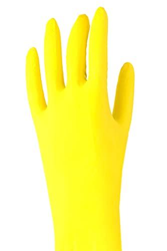 GERLINOVA Haushalts-Handschuhe 3er Pack - Größe: S - Gummihandschuhe zur sauberen Reinigung - Wiederverwendbare, wasserdichte Handschuhe (S)