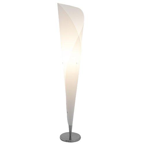 Alterego Lampadaire Design 'KONE' en Forme de cône Blanc
