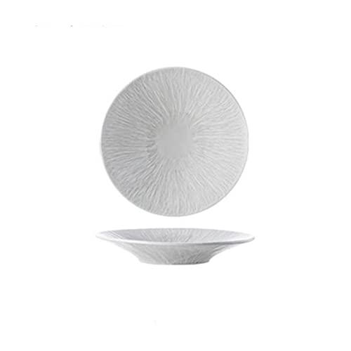 Hanpiyigw Bol, Los Platos de cerámica de 1 Piezas, Platos para el hogar Pueden usarse para Colocar Frutas, Verduras, Huevos. (Size : S)
