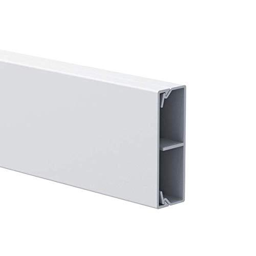 Habengut - Cubierta para Cables de TV (PVC, 5 cm de Ancho, 1 m), Color Blanco