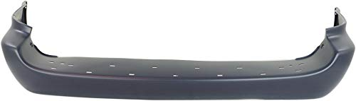 Evan-Fischer Rear Bumper Cover Compatible with 2001-2007 Dodge Grand Caravan/Chrysler Town & Country 2005-2007 Primed with Single Exh Hole (05-07 Chrome Mldg. and Stow and Go Seat)