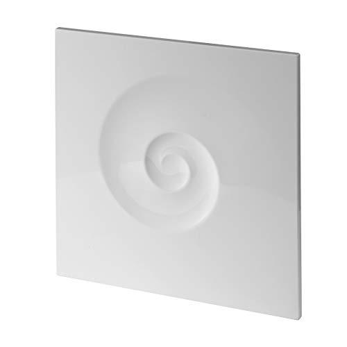 MKK Ventilateur d'intérieur pour salle de bain et WC - Diamètre : 100 mm - Blanc - Puissant roulement à billes - 7 W - Clapet anti-retour standard - Avec clapet anti-retour