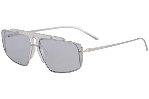 Prada 0PR 50VS Gafas de Sol, Silver/Transparente, 45 para Hombre