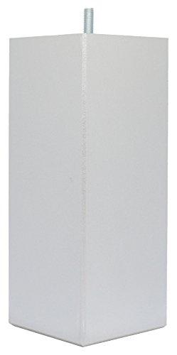 La Fabrique de Pieds Jeu de 4 Pieds de Lit, Bois, Laqué Alu, 20 x 8 x 8 cm
