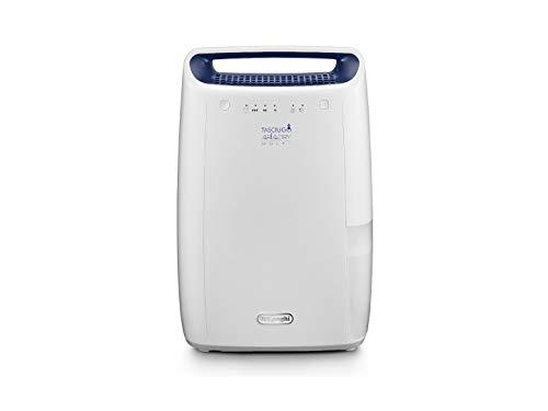 De'Longhi DEX212F Tasciugo AriaDry - Deshumidificador de ambiente para casa, 300 W, 12 litros, 37 decibelios, plástico, blanco