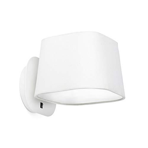 Faro Barcelona Sweet 29952 - wandlamp, 15 W, metaal en lampenkap van stof, wit