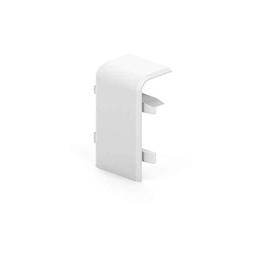 Habengut Verbinder für Sockelleiste 50 mm aus PVC | Inhalt: 2 Stück - für die Verbindung von Sockelleisten