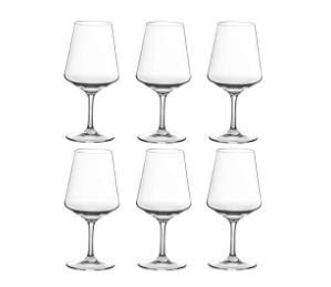 Unbreakable Wine Glasses-100% Tritan Plastic Stem Wine Glasses, set of 6-All Purpose,Red or White Wine Glass,Dishwasher Safe,BPA Free (18-ounce)