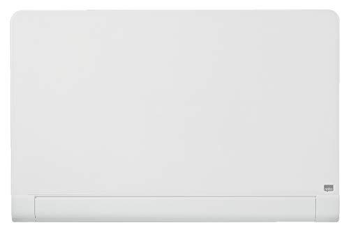 Nobo Pizarra Magnética de Cristal Con Bandeja para Rotuladores Oculta, 1000 x 560 mm, Sistema de Instalación InvisaMount, Impression Pro, Blanco Brillante, 1905191
